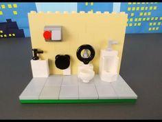 YouTube Lego Bathroom, Lego Simpsons, Lego Furniture, Lego Models, Legos, Miniatures, Toys, Paper, Youtube