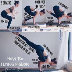 Day 8 of #TeamYogiNinjas is #ekapadagalavasana or #flyingpigeon As with all arm…