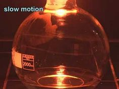 Combustion of iron in pure oxygen - YouTube