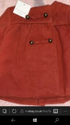 tahari baby girls red long sleeve quilted coat bnwt m Joules Baby Girl, Kids Girls, Baby Girls, Quilted Jacket, Polo Ralph Lauren, Coat, Long Sleeve, Mens Tops, Red