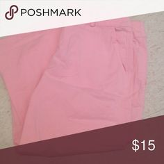 Really cute pink capris Theses are a cotton Capri in light pink bay studio Pants Capris