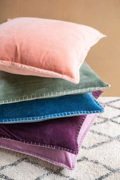 Soft Cotton Velvet Cushion Cover                      – Ian Snow Ltd Front Room Furnishings, Soft Furnishings, Forced Labor, Blanket Stitch, Velvet Cushions, Cotton Velvet, Health And Safety, Cushion Covers, Simple Designs