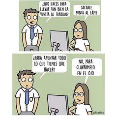 Ánimo a los que vuelven al curro hoy. 💪🏼 #work #trabajo #illustration #ilustración #cartoon #humor #loslunesmeodian