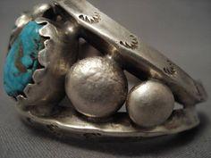 Knockout Navajo persiano turchese argento Bracciale di NativoArts