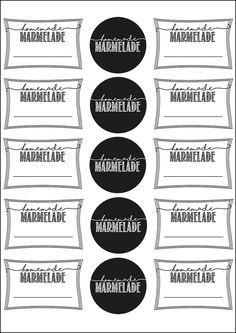 mehrere freebie zum Ausdrucken hier: Marmelade