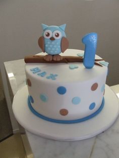 Owl cake. This cake was so crisp and precise, but still super cute. We are making 3 owl cakes a week at CakeStar at the moment, to definitely a hot children's party styling trend. Jade Lipton xx