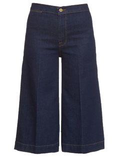 FRAME DENIM Robertson High-Rise Culottes. #framedenim #cloth #culottes