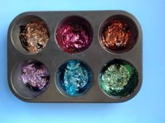 Homemade Shimmery Paints: 3 ingredients!