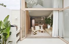 Jenna and Josh Densten's Dreamy New Family Home Australian Architecture, Australian Homes, Modern Interior Design, Interior And Exterior, Brunswick House, Vintage Dining Chairs, Diy Blinds, Melbourne House, Architecture Awards