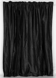 Black Dupioni Silk Drapes, dupioni silk dresses, silk fabric ~ Home Design Victorian Shower Curtains, Short Curtain Rods, Traditional Home Decorating, Front Hall Closet, Modern Room Decor, Dining Room Curtains, Silk Curtains, Beautiful Dining Rooms, Tiny House Bathroom