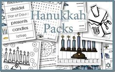 FREE Hanukkah Printable Pack grades} - Life of a Homeschool Mom, Hanukkah For Kids, Hanukkah Crafts, Feliz Hanukkah, Happy Hanukkah, Hannukah, Kwanzaa, Kindergarten Activities, Activities For Kids, Crafts For Kids