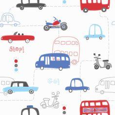 Boys Wallpaper - Transport at Children's Rooms