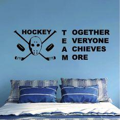 ALL HOCKEY STICKERS Hockey Goalie, Hockey Mom, Hockey Players, Ice Hockey, Wall Stickers Room, Wall Decals, Super Mom, Super Easy, Team Quotes Teamwork
