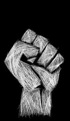 """""""And the riot be the rhyme of the unheard."""" ~ Rage Against the Machine, Calm Like a Bomb Protest Kunst, Protest Art, Rage Against The Machine, Feminist Art, Black Power, String Art, Black Art, Tatoos, Illustration"""