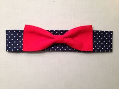 Dog+Bow+Tie++Navy+Polka+Dot+with+Red+Bow+by+SpottedDogShop+on+Etsy,+$5.95