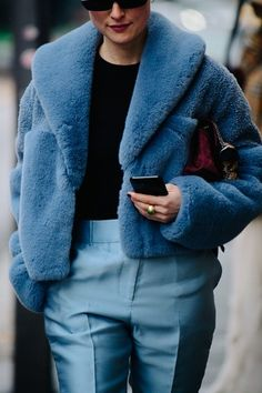 Street style during Milan Fashion Week on Thursday, February 22nd in Milan, Italy. Photo by Adam Katz Sinding for W Magazine.