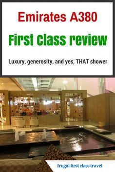 A suite, gifts galore and a shower at 40 000 feet, the Emirates First Class… Travel Info, Air Travel, Travel Advice, Travel Guides, Travel Tips, Travel Plan, Travel Stuff, Travel Hacks, Airline Reviews