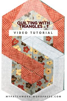Video tutorial: quilting with triangles-TeresaDownUnder Again, another layout with equilateral triangles. I can't get enough of them!Learn to make this placemat or table runner in 2 minutes: here is how to cut 60 degree triangles without special rulers: