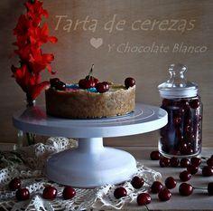 Unas gotas de imaginación - Tarta de cerezas y chocolate blanco