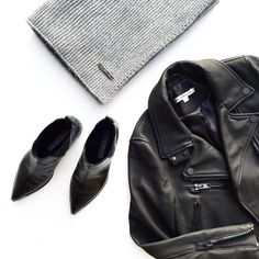 MINIMAL + CLASSIC: Flat lay. The Arrivals Jacket + Scarf. #flatlay - OVRSLO