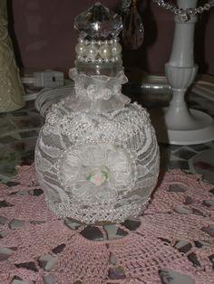 """Romantic """"little"""" bottle((altered-bottles))"""