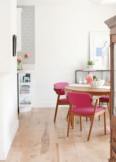 Dining   Pink Chairs