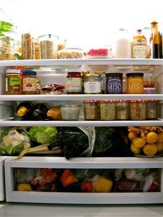 Amy Chaplin's fridge looks like it was organized by Martha Stewart.