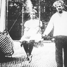 A very rare photograph of Grand Duchess Maria of Russia sitting on a swing. by historyofromanovs