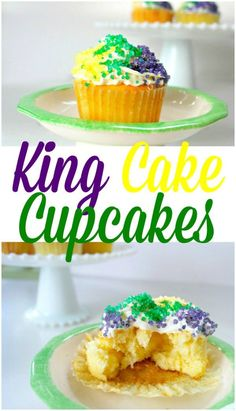 King Cake Cupcakes – Perfect for Epiphany or Mardi Gras!