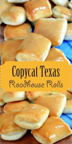 Learn how to make the delicious dinner rolls we all know and love in this Copycat Texas Roadhouse Rolls recipe! Homemade Dinner Rolls, Dinner Rolls Recipe, Easy Homemade Rolls, Best Rolls Recipe, Honey Rolls Recipe, Sweet Yeast Rolls Recipe, Best Yeast Rolls, Quick Yeast Rolls, Quick Dinner Rolls