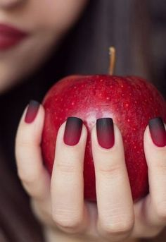 Elegant Wine Red Christmas New Year Fake Nails Press on Nail Artificial Nail Tips with Glue Sticker Faux Ongles Unhas Gift. Nail Designs 2017, Manicure Nail Designs, Black Nail Designs, Nail Manicure, Nail Art Designs, Nail Polishes, Manicure Ideas, Nails Design, Nail Ideas