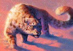 Catamancer Snow Leopard by TamberElla winter monster beast creature animal | Create your own roleplaying game material w/ RPG Bard: www.rpgbard.com | Writing inspiration for Dungeons and Dragons DND D&D Pathfinder PFRPG Warhammer 40k Star Wars Shadowrun Call of Cthulhu Lord of the Rings LoTR + d20 fantasy science fiction scifi horror design | Not Trusty Sword art: click artwork for source