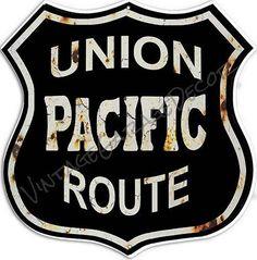 Vintage Style  Union Pacific Route  Railroad /