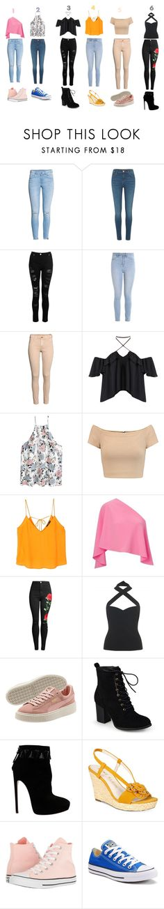 """décontracter"" by anne2417 on Polyvore featuring beauté, H&M, River Island, Dorothy Perkins, Hollister Co., Alice + Olivia, MANGO, Roland Mouret, Collectif et Journee Collection"