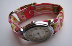 Lose the boring watch bands and make your own with this quick project! Easily change the batteries by moving the fabric or just remove the s...