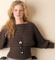 _original, seyant et passe-partout, ce pull à manches chauve-souris et encolure bateau est tricoté en pure laine bio. Les explications de ce tricot, une création signée Rowan, sont gratuites et peuvent être téléchargées.