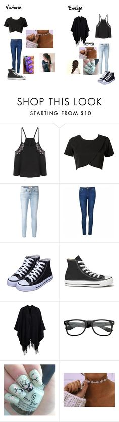 """""""Sin título #57"""" by evelyn-mendoza-1 on Polyvore featuring Belleza, Frame Denim, Ally Fashion, Converse, Glamorous y Disney"""