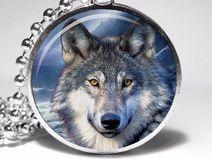 Wolf, Amulett-Halskette, Anhänger