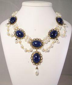 Collar renacentista Medieval collar collar de Tudor joyas