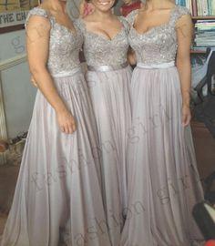 Lace And Chiffon Long Elegant Wedding Dress by fashiongirldress, $149.00