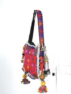 Hippie Boho Women Purse Vintage Fabric