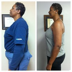 Marilyn has lost 50lbs in 15 weeks on our wellness program! We are so proud of her! What a change! :)