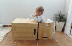 Probando: Sillas cubo de Woomo - Testing: Cube chairs by Woomo • Montessori en Casa