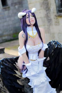 albedo from overlord cosplay by Giu hellsing #Albedocostume #overlord #cosplayclass #cosplaygirl