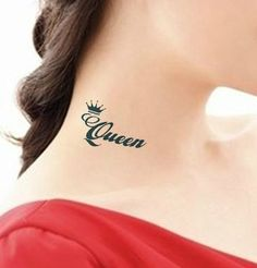 Queen Crown Tattoo Design, queen crown tattoo, crown tattoos for men Crown Neck Tattoo, Simple Crown Tattoo, Crown Finger Tattoo, Crown Tattoo Design, Tattoo Neck, Tattoo Designs Tumblr, Finger Tattoo Designs, Tattoo Designs For Girls, Tattoo Designs And Meanings