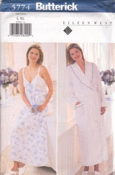 f5ddb96036 Butterick 5774 Misses EAsY Nightgown and Wrap Robe by mbchills Vintage  Lingerie