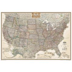 http://usa.mycityportal.net - National Geographic Maps The United States Executive Map