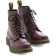 Dr. Martens Vintage Inspired Playing Air Guitar Boot (4.275 RUB) ❤ liked on Polyvore featuring shoes, boots, purple, flat boot, boot - bootie, purple boots, short boots, flat bootie, gold ankle boots and flat mid calf boots