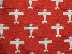 Quilt Inspiration - Airplane pattern from American Folk Art Museums satellite installation, Infinite Variety: Three Centuries of Red and White Quilts