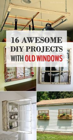 16 Awesome DIY Projects with Old Windows pane ideas diy 16 Awesome DIY Projects with Old Windows Old Wood Windows, Antique Windows, Vintage Windows, Diy Windows, Lead Windows, Vintage Shutters, Vintage Doors, Recycled Door, Recycled Windows